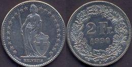Switzerland Swiss 2 Franc 1990 VF - Suisse