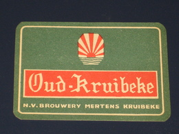 Oud Bier Etiket OUD KRUIBEKE Brouwerij Brasserie MERTENS - Bière