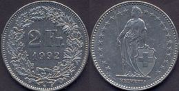 Switzerland Swiss 2 Franc 1992 VF - Suisse