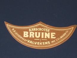 Oud Bier Etiket AARSCHOTSE BRUINE Brouwerij Brasserie VALVEKENS Aarschot - Bière