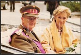 Extra LARGE Card / ROYALTY / Belgium / Reine Paola / Koningin Paola / Koning Albert / Roi Albert - Familles Royales
