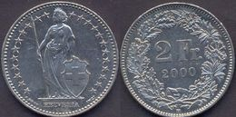 Switzerland Swiss 2 Franc 2000 VF - Suisse