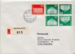 Postal History: Switzerland Registered Cover With Geneve CIC Cancel - Switzerland