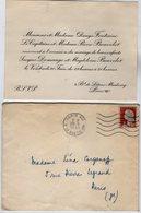 VP13.565 - PARIS 1961 - Carton D'Invitation -  Mariage De Mr Jacques DEMANGE & Magdeleine BEUVELET - Mariage