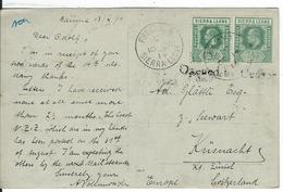 Sierra Leone Censored SG 99, 112, Mi 68, 81 Baiima 14.10.14 To Küsnacht CH - Sierra Leone (...-1960)