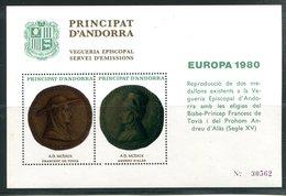 (J) - ANDORRE - Viguerie épiscopale - BF Europa 1980 - Timbres