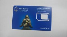 Nepal-telecom Namaste Mobile Prepiad Sim Card-used Card+3 Prepiad Card Free - Nepal