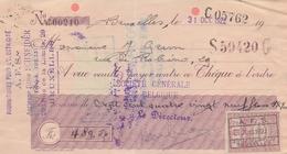 1922: Traite Tirée Par ## A.F.S. (Ancienne Firme Schneider), Rue De La Limite, 29, BXL. ##  De ## Mr. GRAM, Rue ... - Banque & Assurance