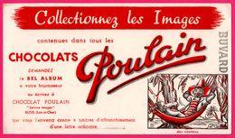 BUVARD Illustré - Chocolat POULAIN - Joli Chapeau - Jeune Homme Dans Hamac - Blois (41) - Chocolat