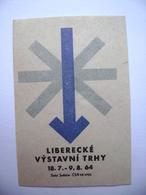 Czechoslovakia Matchbox Label 1964 - Liberecké Vystavni Trhy - Liberec Exhibition Markets - Boites D'allumettes - Etiquettes