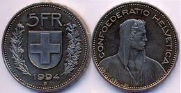 Switzerland Swiss 5 Franc 1994 VF - Suisse