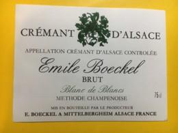 9140 - Crémant D'Alsace Emile Boeckel - Etiquettes