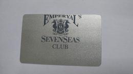 Turkey-emperyal's -casino Sevenseas Club-used Card+1card Prepiad Free - Cartes De Casino