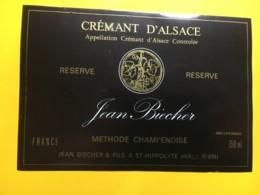 9141 - Crémant D'Alsace Jean Biecher - Etiquettes