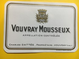 9142 - Vouvray Mousseux Charles Dattée - Etiquettes