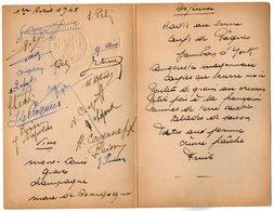 VP13.567 - PARIS 1945 - Menu - Noblesse - CORGANOFF - NAPOLEON ........ - Menus