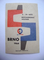 Czechoslovakia Matchbox Label 1964 - Mezinarodni Veletrh Brno - International Trade Fair - Boites D'allumettes - Etiquettes