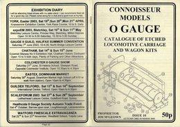 Catalogue CONNOISSEUR MODELS 2002-03 O GAUGE Kits Locomotive Wagon - Boeken En Tijdschriften
