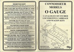 Catalogue CONNOISSEUR MODELS 2002-03 O GAUGE Kits Locomotive Wagon - Books And Magazines