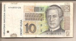 Croazia - Banconota Circolata Da 10 Kune P-38a - 2001 - Croazia