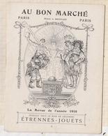 810222 GM CHROMO AU BON MARCHE LA REVUE DE L'ANNEE 1910 - Au Bon Marché