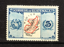 Guatemala  -  1939.  Carta Geografica Del Guatemala. Map Of Guatemala. MLH - Geografia