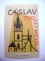Czechoslovakia Matchbox Label 1964 - 700 Years Of Town CASLAV - Boites D'allumettes - Etiquettes