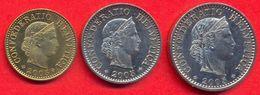 Switzerland Swiss 5 10 20 Rappen 2005 XF (Set 3 Coins) - Suisse