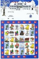 Denmark; Scouting;  Local Christmas Seals - Nykøbing F.  Full Sheet 1986.  MNH ** - Not Folded - Padvinderij