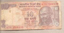 India - Banconota Circolata Da 10 Rupie P-102v - 2014 - India