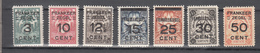Surinam Suriname 1927,6V In Set, Ovpt On Brandkastzegels,READ,MH/Ongebruikt(A3595) - Surinam