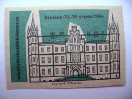 Czechoslovakia Matchbox Label 1964 - Visit Wine Festival In BZENEC - Boites D'allumettes - Etiquettes