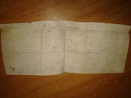 Acte Sur Vélin Passé Devant Un Notaire De Chagny (71) Concernant Des Habitants De Puligny (21) En 1604 - Manuscrits