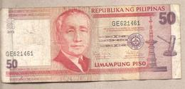 Filippine - Banconota Circolata Da 50 Piso P-193d.3 - 2013 - Filippine