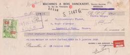 1935: Traite Tirée Par ##Machines à Bois DANCKAERT S.A., Rue Des Vétérinaires, 53, BXL.##  De ## Ets. FLANET, ... - Bank & Insurance