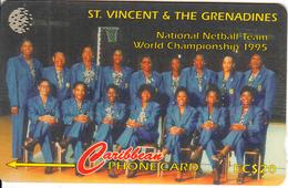 ST. VINCENT & THE GRENADINES(GPT) - National Team 1995, CN : 199SVDB/B(0 With Barred), Tirage 15000, Used - St. Vincent & The Grenadines