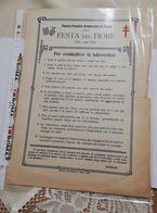 2743) 1930 Festa Del Fiore Palermo Consorzio Anti Tubercolosi Scritte Recto - Programmi