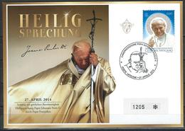 Vatican. Scott # 1559 Large FDC. Canonization Of Pope John Paul II. Joint Issue With Poland 2014 - Joint Issues
