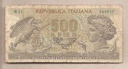 """Italia - Banconota Circolata Da 500 Lire """"Aretusa"""" P-93a.3 - 1970 - [ 2] 1946-… : Repubblica"""