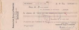 1935: Traite Tirée Par ## Manufacture Royale De Bonneterie, Rue Du Progrès, 247, BXL. ##  De ## Maison Gilson, Blvd. ... - Banque & Assurance