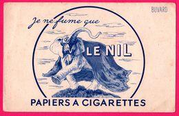 BUVARD Illustré - Papiers à Cigarettes - Je Ne Fume Que Le NIL - Eléphant - Tabak & Cigaretten