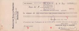 1935: Traite Tirée Par ## Manufacture Royale De Bonneterie, Rue Du Progrès, 247, BXL. ##  De ## Maison Gilson, Blvd. ... - Lettres De Change