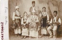 CARTE PHOTO : ROUMANIE ROMANIAN FAMILY TYPES ROUMAINS TZIGANE ROMANIA BUCAREST 1900 - Roumanie