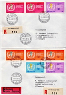 Postal History: Switzerland 2 Registered Cover With WHO Stamps And Cancels - WHO