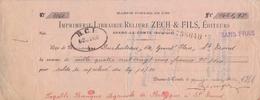 1930: Traite Tirée Par ## Imprimerie-Librairie-Reliure ZECH & FILS, Éditeurs, BRAINE-le-COMTE ## De ## Mr. DUCHATEAU,... - Lettres De Change