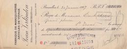 1926: Traite Tirée Par ## Fabrique De Maroquinerie JEAN VERLINDEN, Rue De La Fraternité, 20, BXL. ## De ## Mr. DUCHATEAU - Lettres De Change