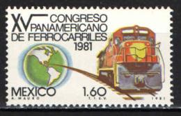 MESSICO - 1981 - CONGRESSO PANAMERICANO DELLE FERROVIE - MNH - Messico