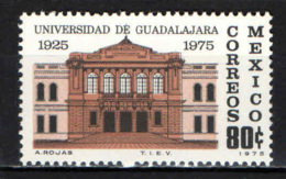 MESSICO - 1975 - UNIVERSITA' DI GUADALAJARA - CINQUNATENARIO - MNH - Messico