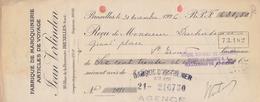 1926: Traite Tirée Par ## Fabrique De Maroquinerie JEAN VERLINDEN, Rue De La Fraternité, 20, BXL. ## De ## Mr. DUCHATEAU - Banque & Assurance