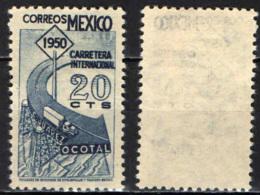 MESSICO - 1950 - COMPLETAMENTO DELLA STRADA INTERNAZIONALE TRA LA CITTA' JUAREZ ED IL GUATEMALA - SENZA GOMMA - Messico
